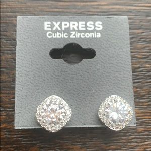 NWT Express cubic Zirconia earrings